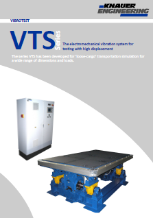 Brochure for vibraing tables of serial VTS