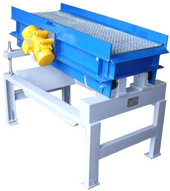 Vibrating sieves and sifting plants serve for the separation, sorting and cleaning of a big number of parts. For example to free pumps or housings from ocher. The vibrating motors on the vibrating sieves are adjustable. Therefore the transport effect on the vibrating sieve can be varied. By adjusting the unbalances influence can be exerted on the vibrating effect.